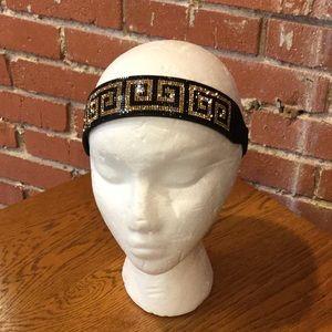 Greek Key Bling Stretchy Headband